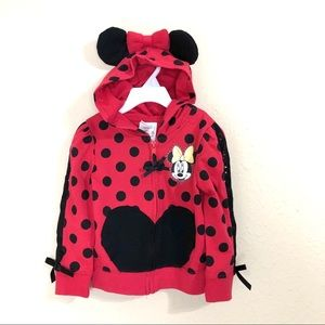 Disney Minnie Mouse zip up hooded jacket 3